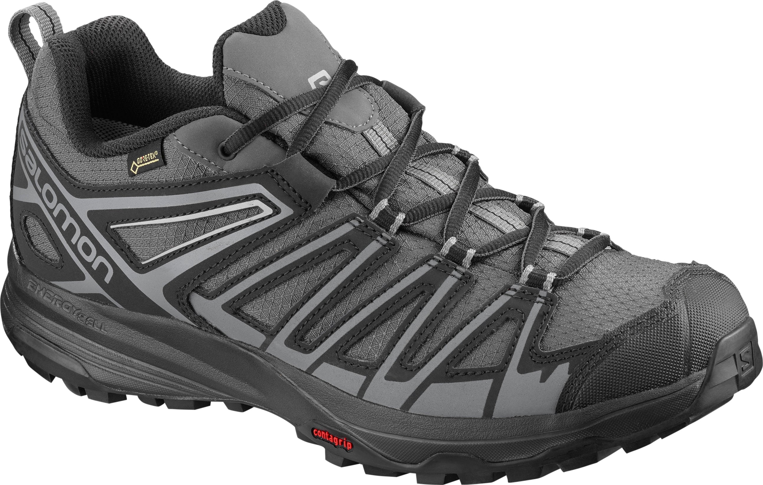 'Salomon' Men's X Crest GTX WP Hiker - Magnet / Black / Quiet Shade