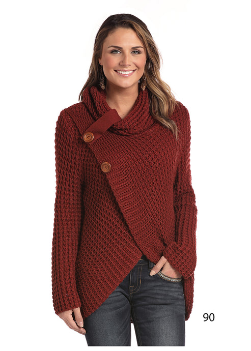 'Panhandle Slim' L8T3670 90 - Women's L/S Loose Knit Sweater - Rust