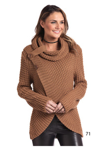 'Panhandle Slim' L8T3670 71 - Women's L/S Loose Knit Sweater - Camel