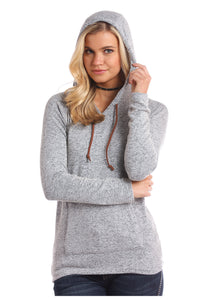'Panhandle Slim' Sweater Knit Hoodie - Heather Grey (ext. sizes)