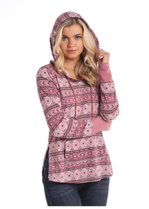 'Panhandle Slim' Print Hoodie - Pink (ext. sizes)