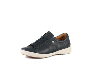 'Bussola' Lecce Liv - Women's  Lace-up Sneaker - Black