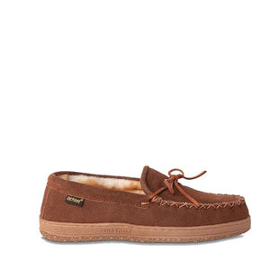 'Old Friend Footwear' Men's Loafer Moccasin Slippers - Chestnut II (Wide)