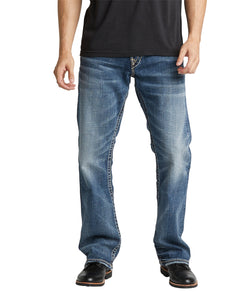 'Silver Jeans' Men's Zac Relaxed Straight Leg - Light Wash Indigo