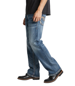 Zac Relaxed Straight Leg Jean - Light Wash Indigo