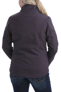'Cinch' Women's Concealed Carry Bonded Jacket - Brown Print / Fuchsia