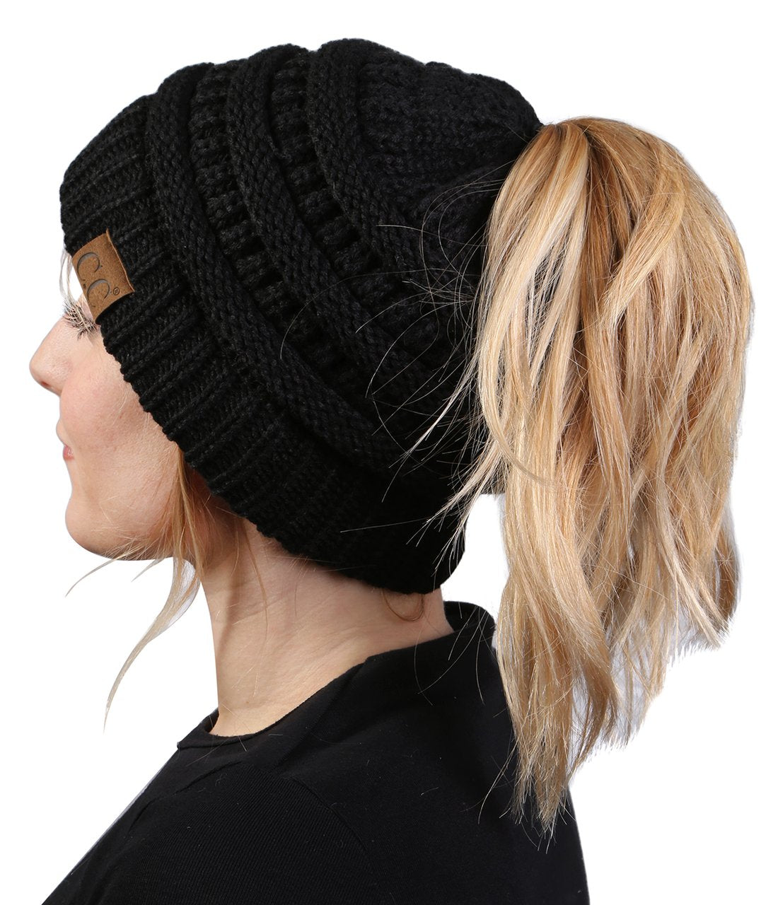 'C.C®' Beanietail - Black