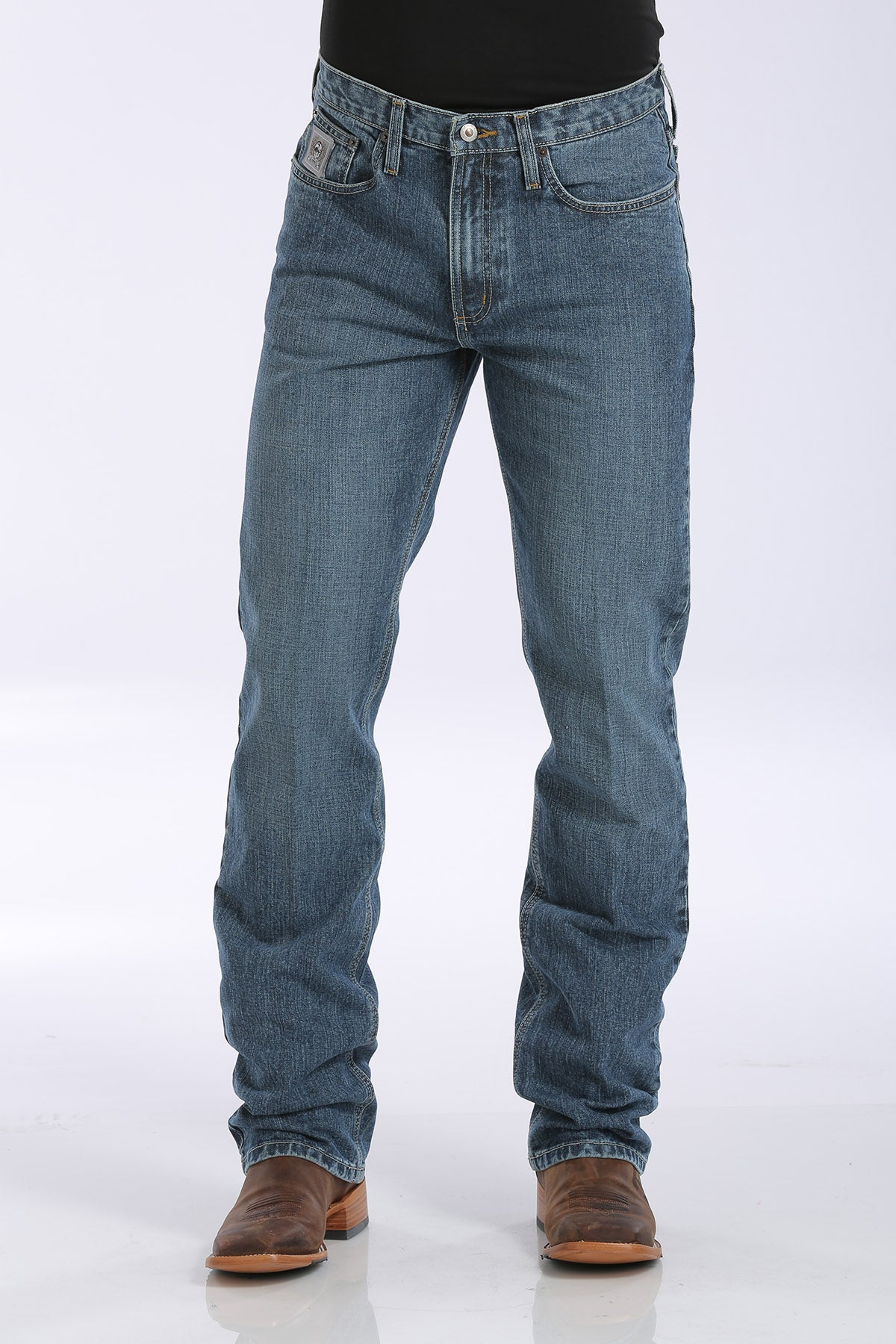 'Cinch' Men's Silver Label Slim Fit - Medium Stonewash