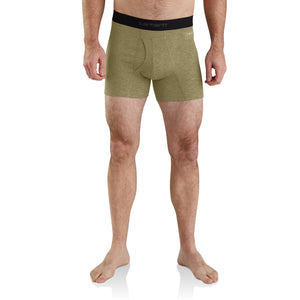 "'Carhartt' MBB122 OLV - 5"" Tech Boxer Brief - Olive"