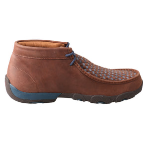 Men's Driving Moccasin Checker - Brown / Blue