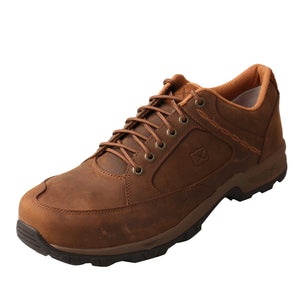 Oxford Steel Toe Shoe - Distressed Saddle