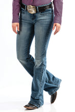 'Cinch' Women's Lynden Slim Trouser Jean - Lt. Stonewash