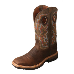 Men's Lite Cowboy Work Boot - Tan / Taupe / Brown