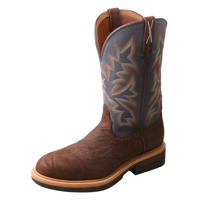 'Twisted X' Men's Lite Cowboy Western Comp Toe - Brown / Blue