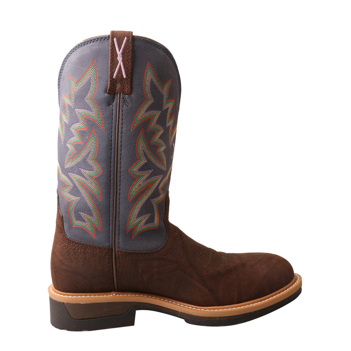 'Twisted X' Men's Lite Cowboy Comp Toe Boots - Brown / Blue