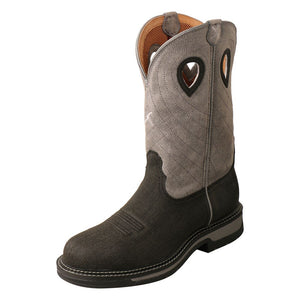 "'Twisted X' Men's 12"" Western Work EH Steel Toe - Charcoal / Grey"