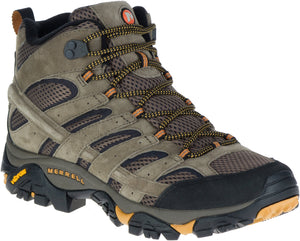 'Merrell' Men's Moab 2 Mid Ventilator - Grey / Tan (Wide)
