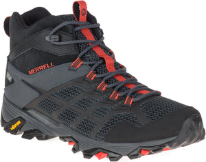 Moab FST 2 Mid Waterproof - Black / Granite / Red / Grey