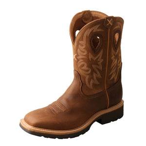 "'Twisted X' Men's 11"" Western EH Steel Toe - Brown / Lt. Brown"