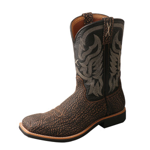 Twisted X Boots BRN/BLK BULL HIDE SQ - MTH0020