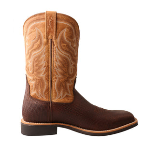 "'Twisted X' Men's 11"" Top Hand Western Square Toe - Tawny / Tan"