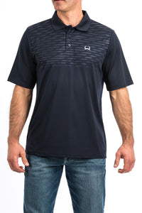 'Cinch' MTK1820016 - Embossed SS Polo - Navy