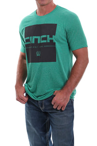 'Cinch' Men's Cinch Crew Tee - Heather Green