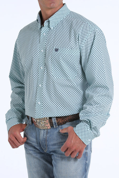 'Cinch' MTW11042829 - LS Button Down Shirt - Lt. Blue