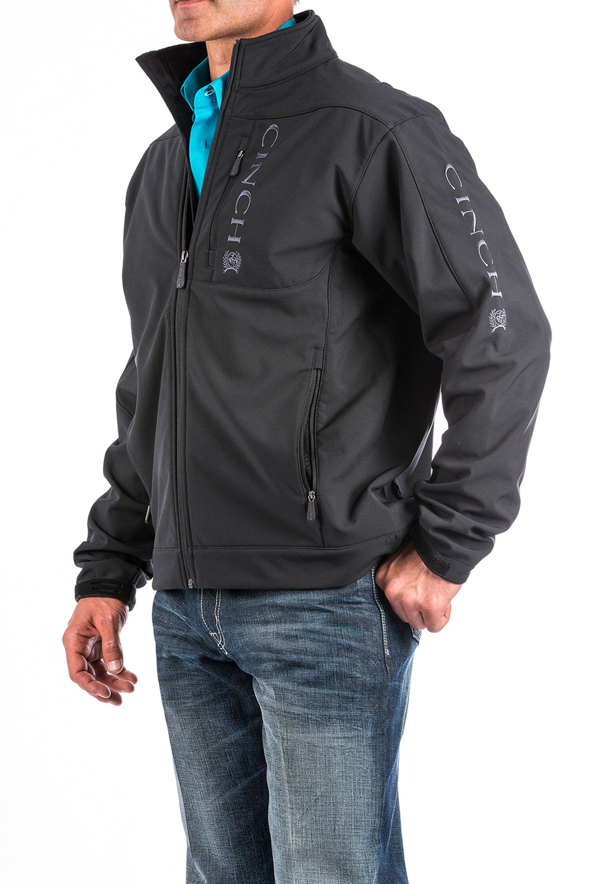 'Cinch' Men's Bonded Jacket - Black (3XL)
