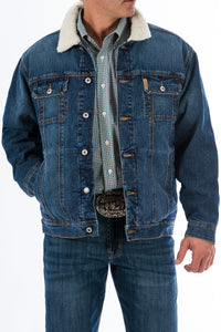 'Cinch' MWJ1074001 - Concealed Carry Fleece Lined Denim Jacket - Denim Blue