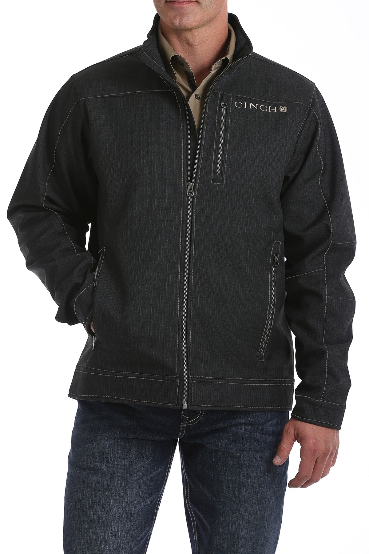 'Cinch' MWJ1086003 - Bonded Waffle Fleece Lined Jacket - Charcoal