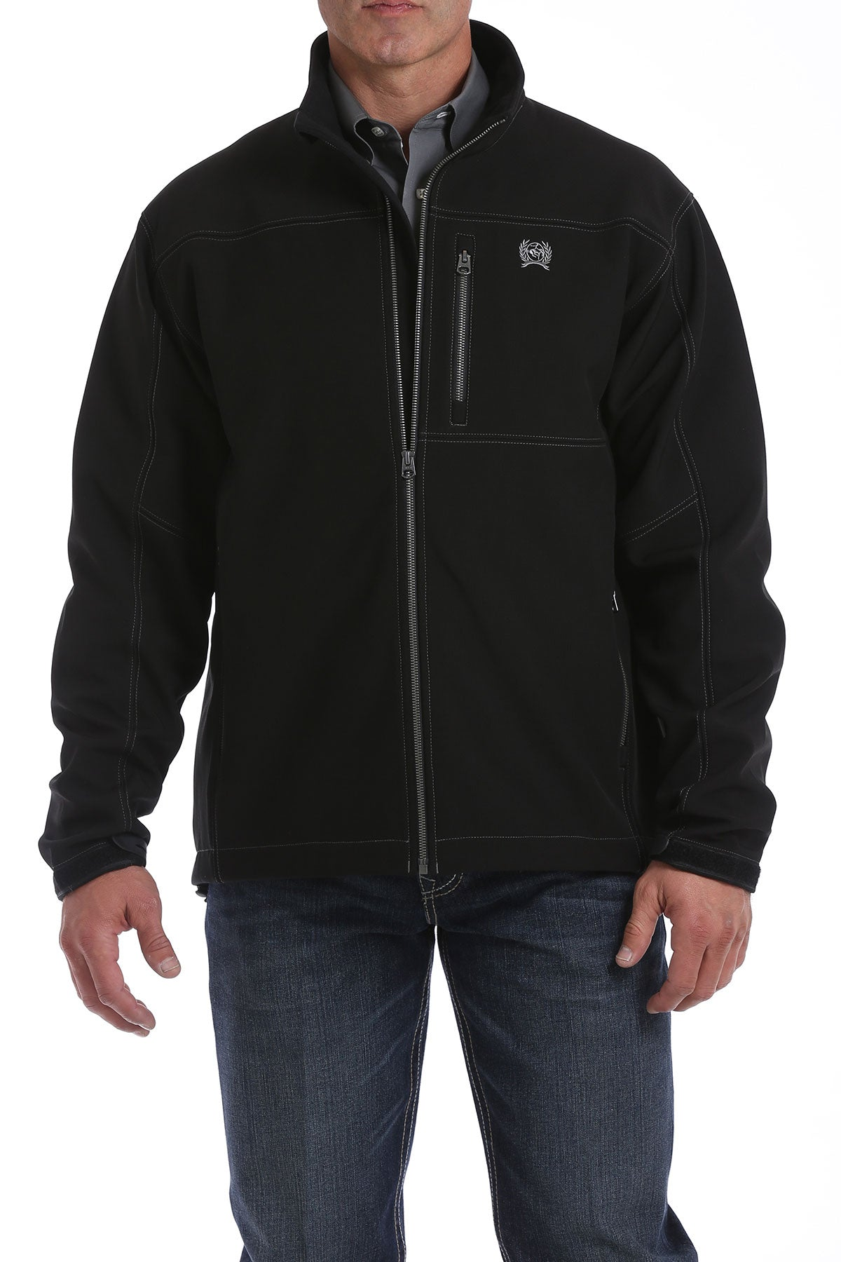 'Cinch' MWJ1500001 - Textured Bonded Jacket - Black