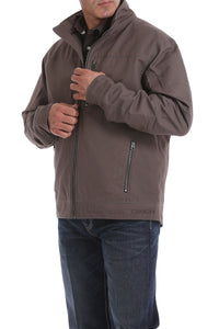 'Cinch' Men's Concealed Carry Canvas Twill Jacket - Stone