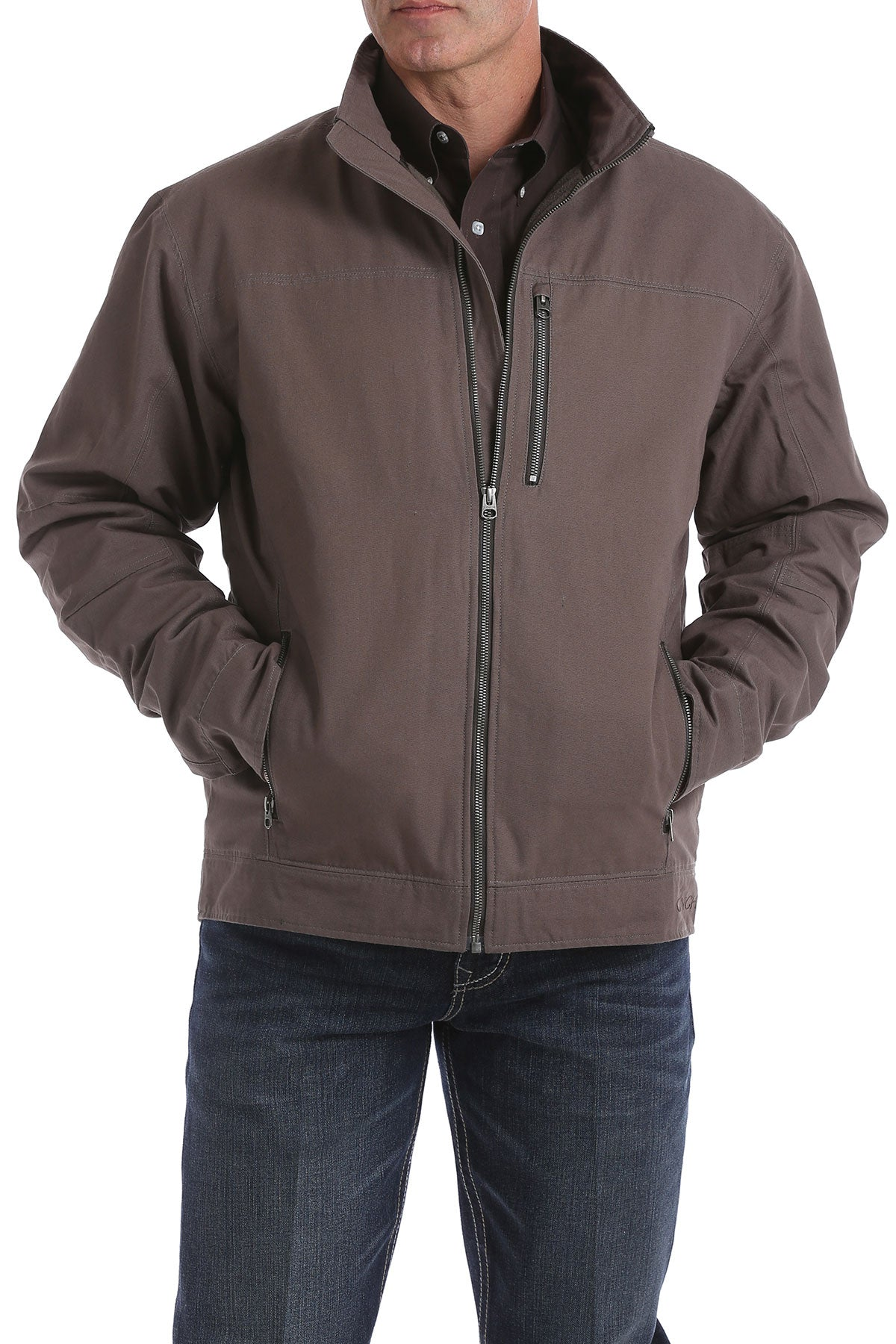 'Cinch' MWJ1505001 - Concealed Carry Canvas Twill Jacket - Stone