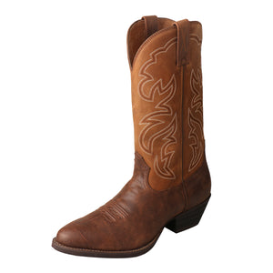 Twisted X Boots BROWN/RUST R TOE - MWT0022