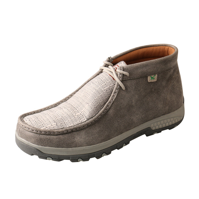 'Twisted X' Men's Cellstretch Chukka Driving Moc - Grey