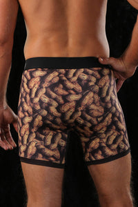 "'Cinch' Men's 6"" Squirrel Boxer Briefs - Brown"