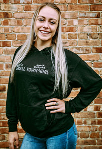 'ScratchPad Tees' Women's Small Town SD Hoodie - Black