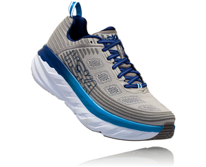 'HOKA ONE ONE' Men's Bondi 6 - Vapor Blue / Frost Grey