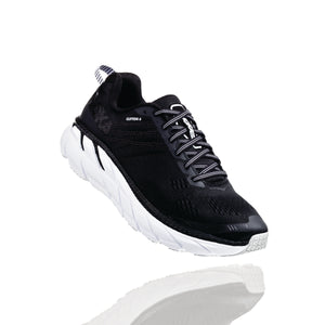 'HOKA ONE ONE' 1102872 BWHT - Women's Clifton 6 - Black / White