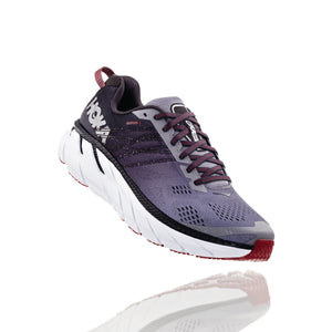 'HOKA ONE ONE' 1102876 GOBS (Wide) -  Men's Clifton 6 - Gull / Obsidian