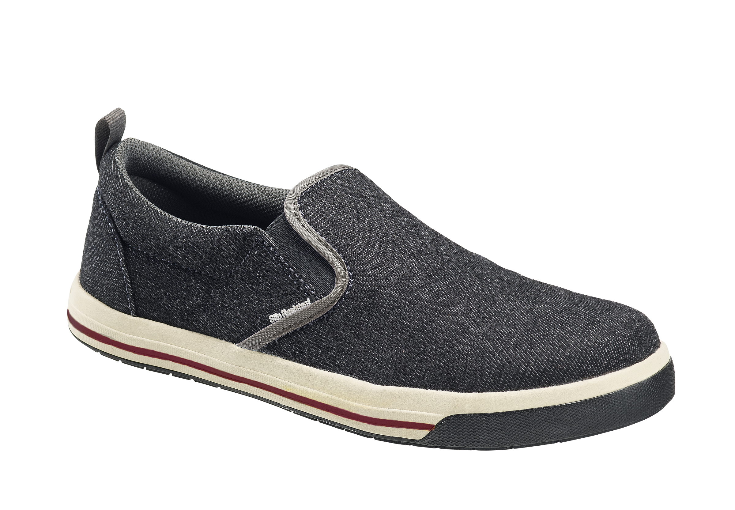 'Nautilus' Women's Westside ESD Steel Toe Slip On - Black / Grey