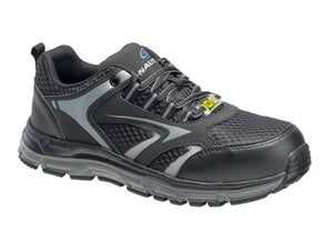'Nautilus' Men's Tempest Low ESD SR Safety Toe - Black / Grey
