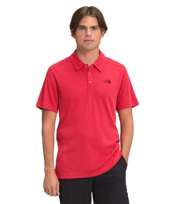 'The North Face' Men's Plaited Crag Polo - Rococco Red Heather
