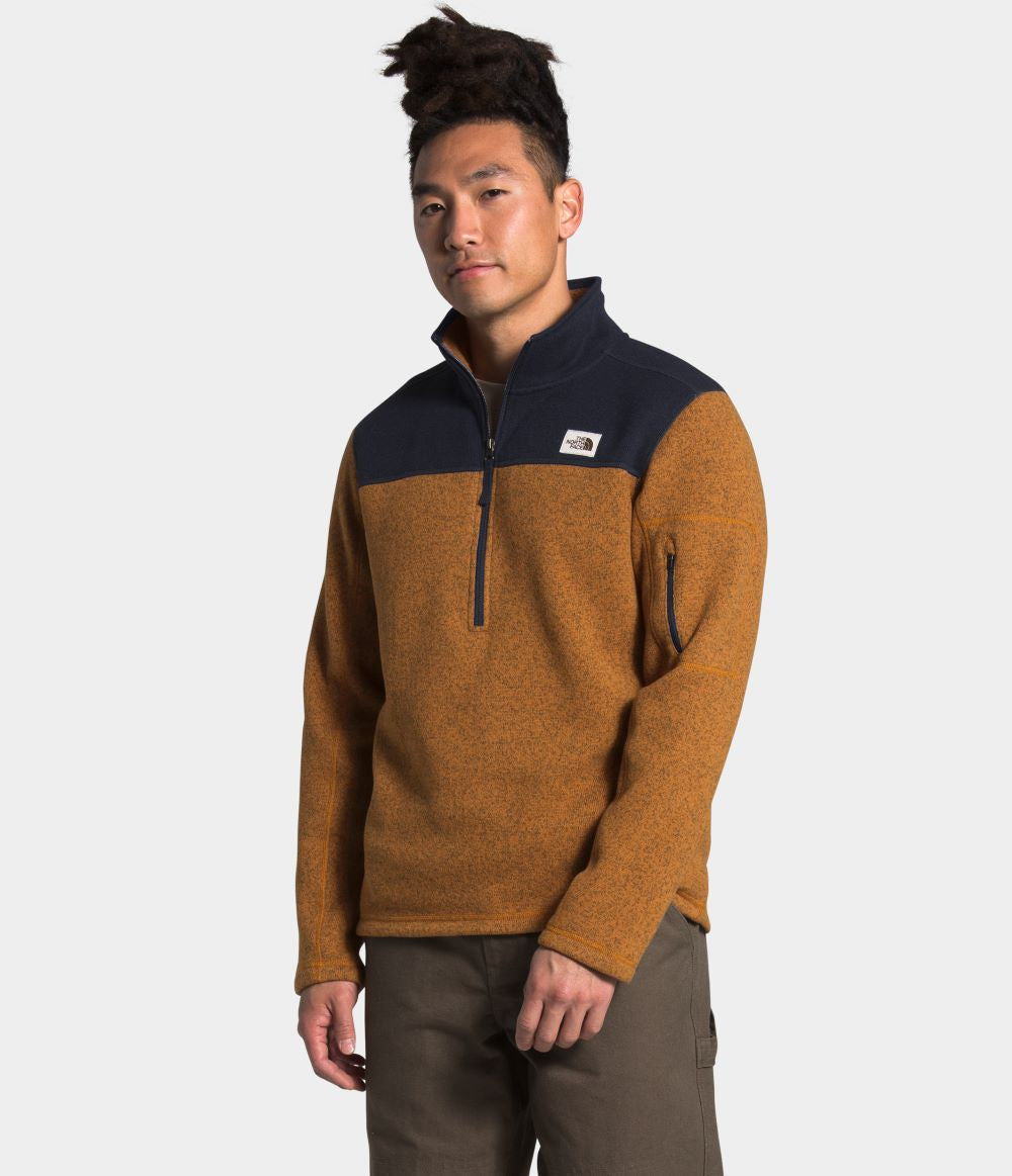 'The North Face' Men's Gordon Lyons 1/4 Zip - Timber Tan / Aviator Navy