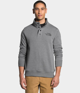 'The North Face' Men's 1/4 Snap Fleece Pullover - Medium Grey Heather