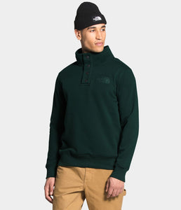 'The North Face' Men's 1/4 Snap Fleece Pullover - Scarab Green