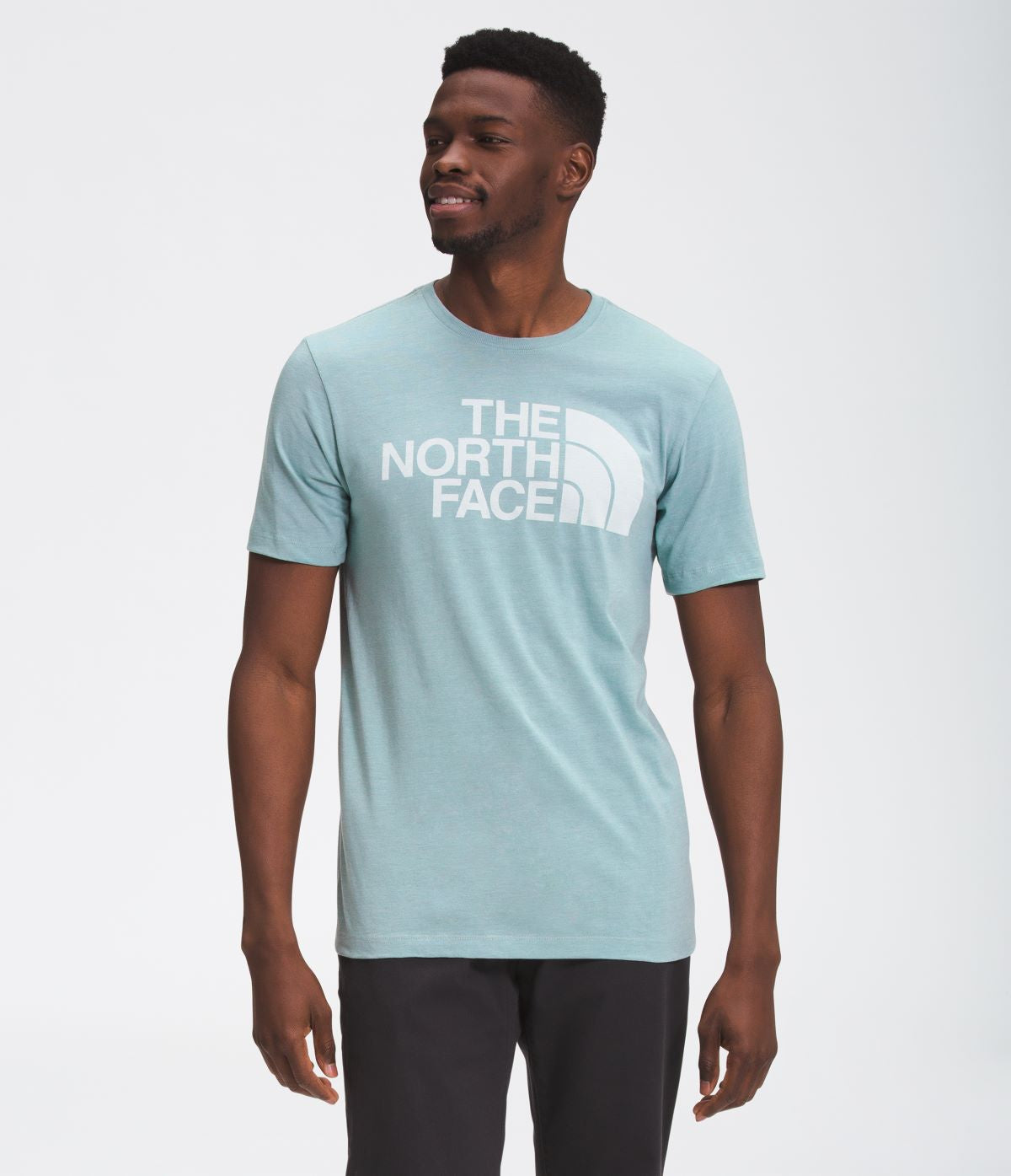 'The North Face' Men's Half Dome Triblend T-Shirt - Tourmaline Blue Heather