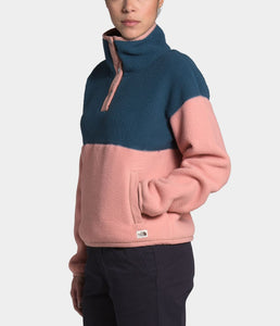 'The North Face' Women's Cragmont 1/4 Snap -  Blue Wing Teal / Pink Clay