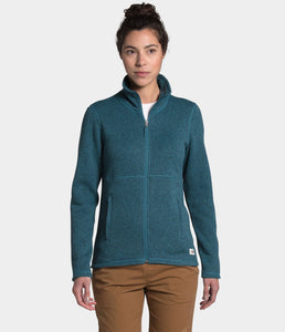 'The North Face' Women's Crescent Full Zip - Mallard Blue / Black Heather